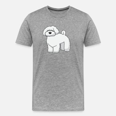 Man To Man dog - poodle - Men's Premium T-Shirt