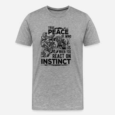 Throttles ATV Quad Peace Instinct - Men's Premium T-Shirt
