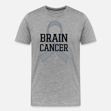 Brain Cancer Walk Brain Cancer Awareness Ribbon - Men's Premium T-Shirt