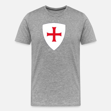 Medieval Templar knight shield - Men's Premium T-Shirt