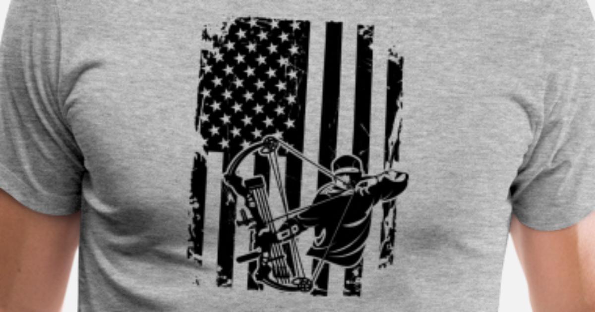 617d5aaabfccca Bow Hunting Flag Men s Premium T-Shirt