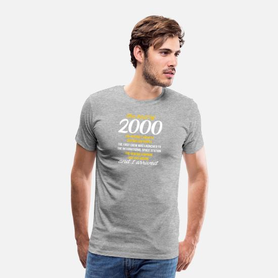 2000 18th Birthday T Shirt Gift For 18 Year Old Bo Mens Premium