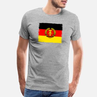 29ce92bd1a5 Ddr East Germany ddr germany east GDR flag retro wall emblem - Men s  Premium T-