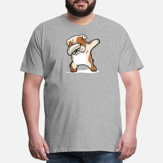 32ed552e Funny English Bulldog Dabbing Men's Premium T-Shirt   Spreadshirt