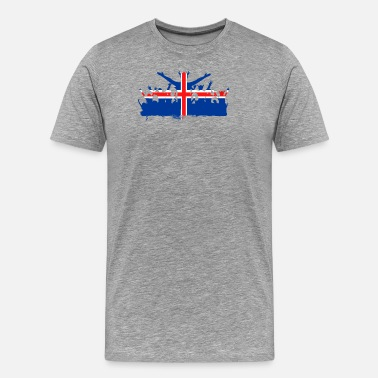 Iceland Football Icelandic Footbal - Men's Premium T-Shirt