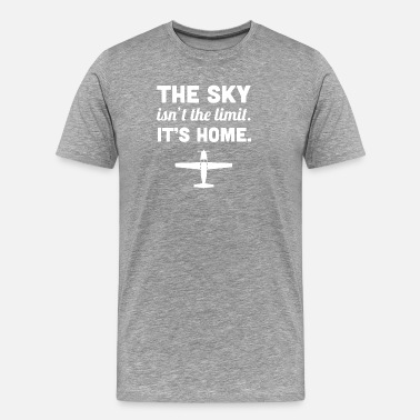 Pilot Quotes Home | Funny Airplane Pilot Quote - Men's Premium T-Shirt