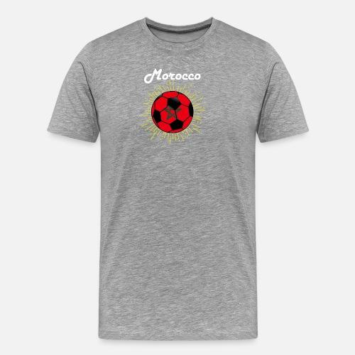 Men s Premium T-ShirtMorocco Soccer Design Moroccan Flag World Soccer 09b85442a