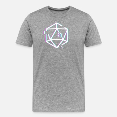 Thrones Glitched d20 | Roleplaying Board Game - Men's Premium T-Shirt
