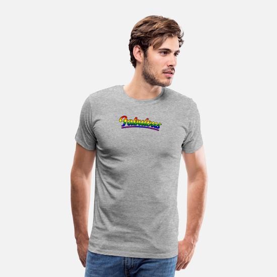 Gay Pride T-Shirts - Gay And Fabulous Pride Parade Support Equality - Men's Premium T-Shirt heather gray