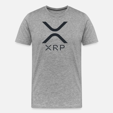 Xrp Ripple (XRP) LOGO NEW RIPPLE LOGO Cryptocurrency - Men's Premium T-Shirt