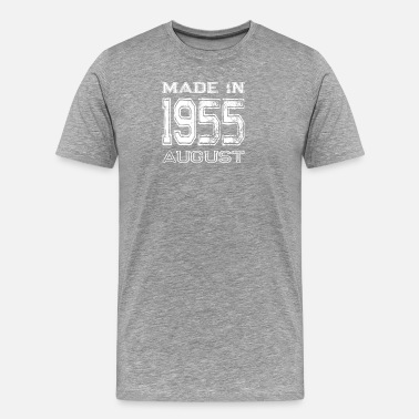 1955-birthday-year-men Birthday Celebration Made In August 1955 Birth Year - Men's Premium T-Shirt