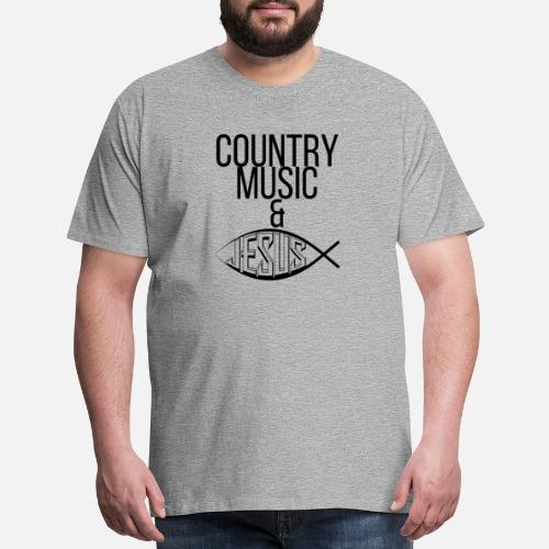 3fa3930f38 Men's Premium T-ShirtCountry Music And Jesus Funny Christian Gift T Shirt