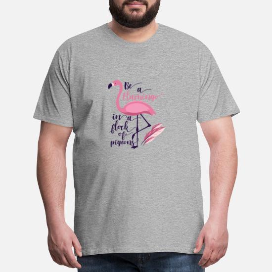 Pink Flamingo Tee Be A Flamingo in A Flock Pigeons Blend Hoodie