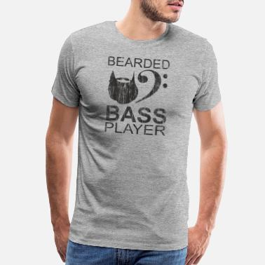Guitar Bearded Electric Bass Guitar Player Gift - Men's Premium T-Shirt