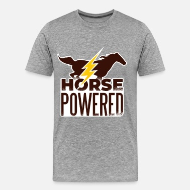 Thunder Symbol Horse Powered - Men's Premium T-Shirt