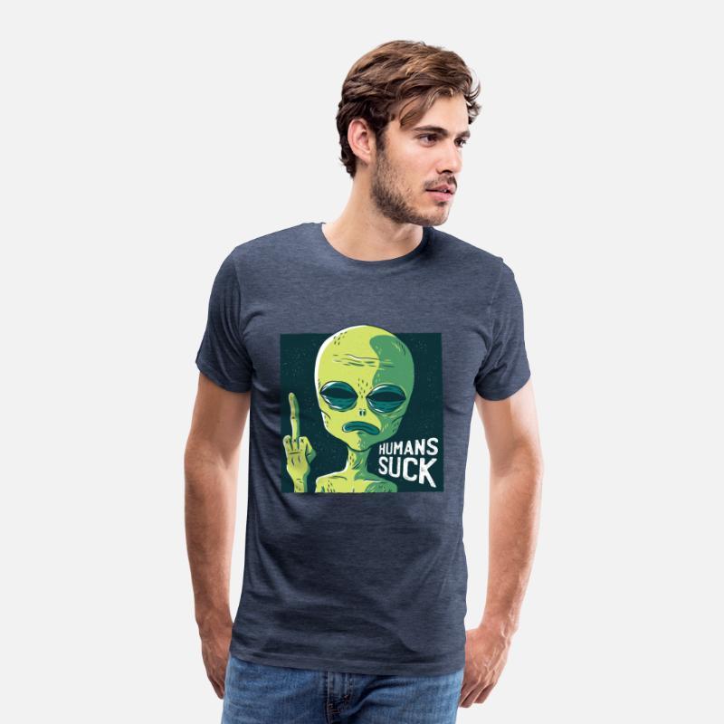 f52e3370f78d alien Human Suck Men's Premium T-Shirt   Spreadshirt