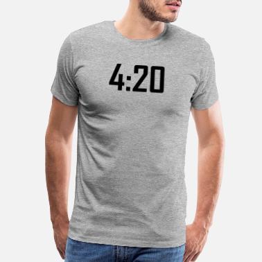 8254db10 420 funny weed stoner marijuana cannabis - Men's Premium T-Shirt
