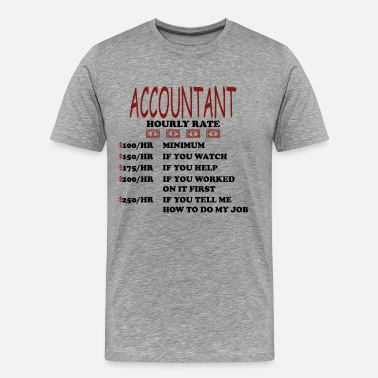 Bookkeeper Certified Public Accountant CPA Business Gift - Men's Premium T-Shirt