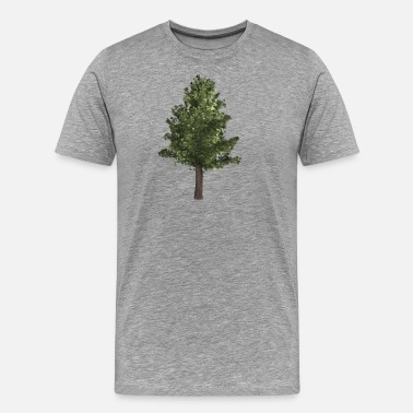 Conifer forest woods woodland wald tree baumstamm44 - Men's Premium T-Shirt