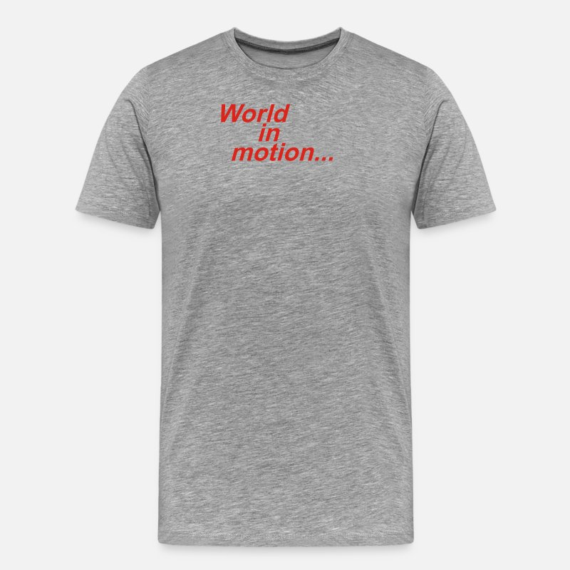 World's Best T-Shirts - WORLD IN MOTION ENGLAND ITALIA 90 WORLD CUP - Men's Premium T-Shirt heather gray