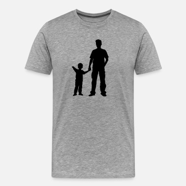 Matching Father Son father and son - Men's Premium T-Shirt