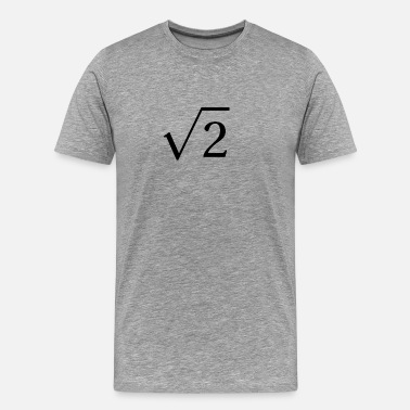 Square Root Square Root of 2 - Men's Premium T-Shirt