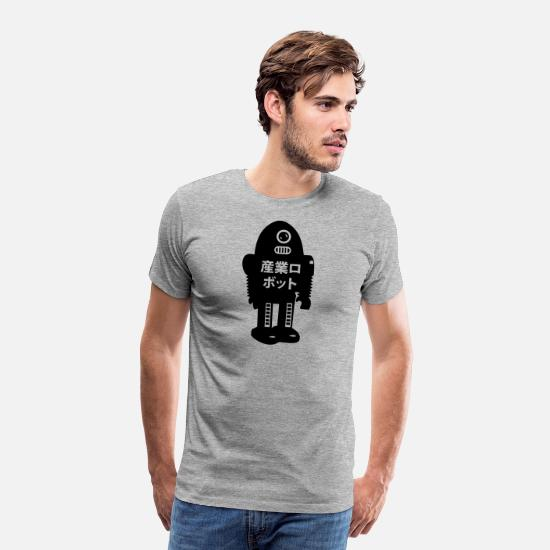 Geek T-Shirts - robot - Men's Premium T-Shirt heather gray