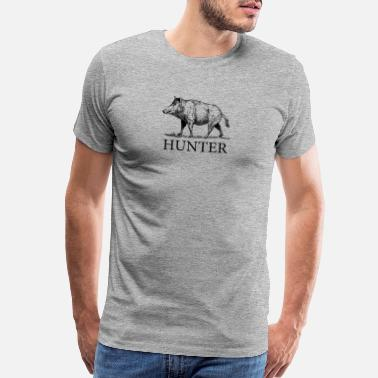Hunting Hog Hunter - Men's Premium T-Shirt