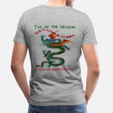 Tail Tail Of The Dragon 4 Design - Men's Premium T-Shirt