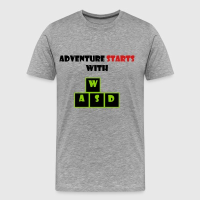 adventure starts with wasd - Men's Premium T-Shirt