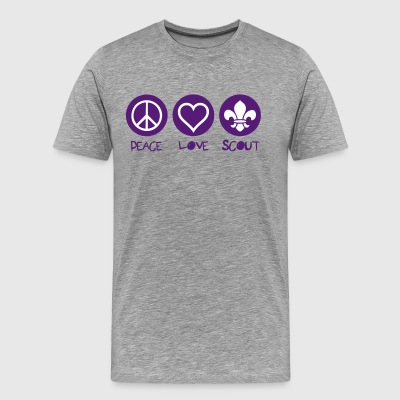 Peace Love Scout - Men's Premium T-Shirt