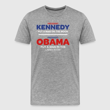 Kennedy Moon Obama Ladies Room - Men's Premium T-Shirt