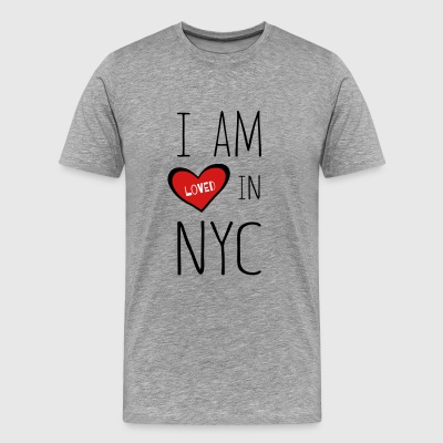 I am loved in NYC - Men's Premium T-Shirt