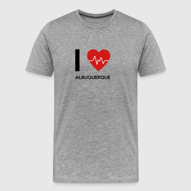 I Love Albuquerque - Men's Premium T-Shirt