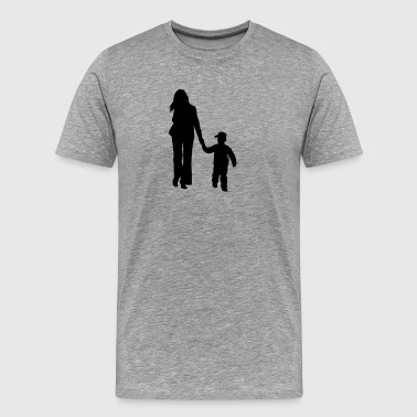 mother and son silhouettes - Men's Premium T-Shirt