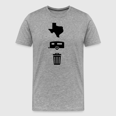 Texas Trailer Trash (Icons - Vertical/Dark Color) - Men's Premium T-Shirt