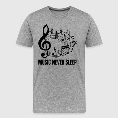 Music Never Sleep - Men's Premium T-Shirt