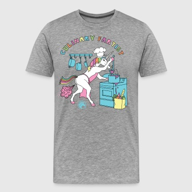 Culinary Fartist Unicorn Outline - Men's Premium T-Shirt