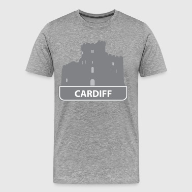 National landmark Cardiff silhouette - Men's Premium T-Shirt