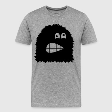 Cartoon monster silhouett - Men's Premium T-Shirt