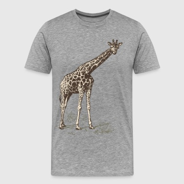 Hand painted animal giraffe - Men's Premium T-Shirt