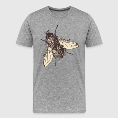 Fatty housefly art - Men's Premium T-Shirt