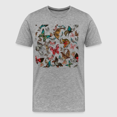 Butterflies background pattern - Men's Premium T-Shirt