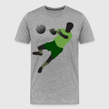 Football player playing with ball - Men's Premium T-Shirt