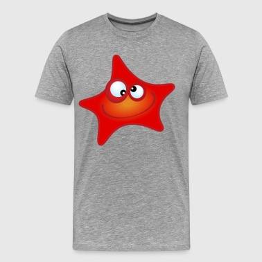 Sea animal starfish cartoon - Men's Premium T-Shirt