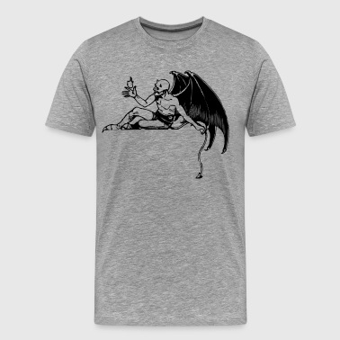 Reclining devil clip art - Men's Premium T-Shirt