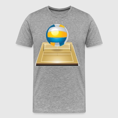 Beach volleyball court - Men's Premium T-Shirt