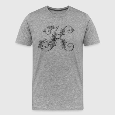 Monogram Alphabet K - Men's Premium T-Shirt