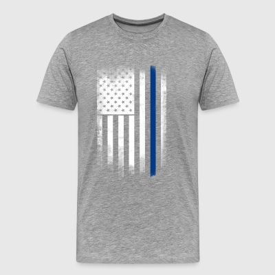 american flag blue line police solidarity team - Men's Premium T-Shirt