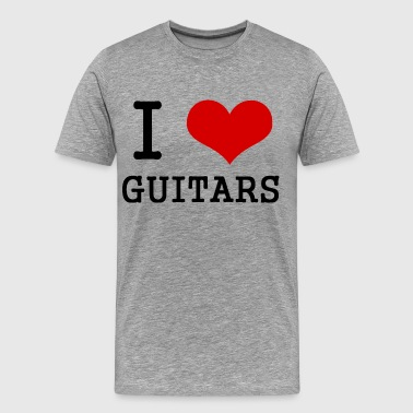 I love guitars - Men's Premium T-Shirt